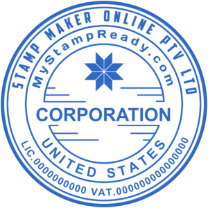 Address seals with the corporation inscription in the middle