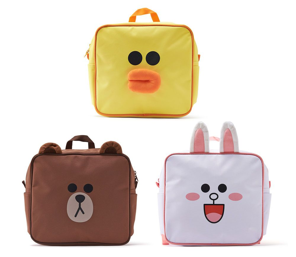 b5d5222439f #LINE FRIENDS #BROWN #SALLY #CONY Character Face Little Kids Pre-School # Backpack #LINEPLUS