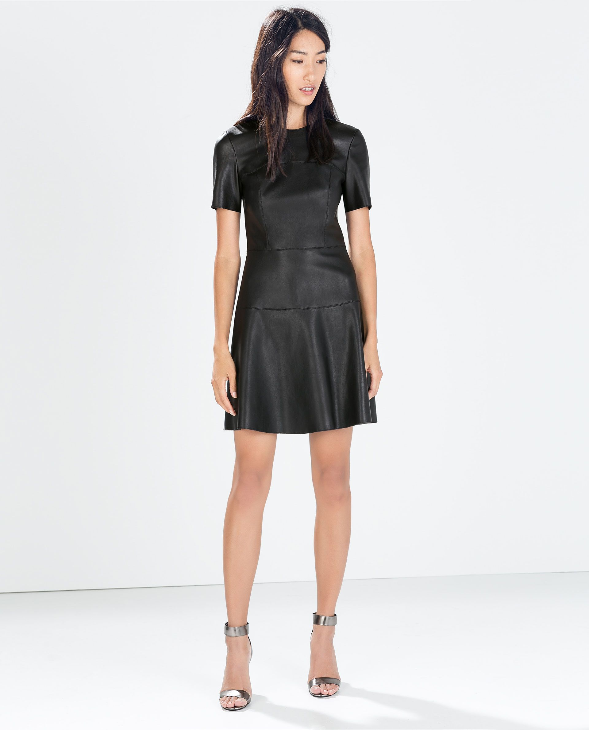 image 1 of faux leather dress from zara dresses and