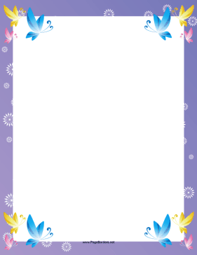 The corners of this fancy printable border feature pretty