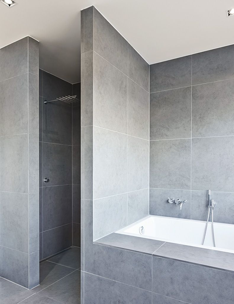 Hoek douche zonder glazen wand | huis | Pinterest - Badkamer ...