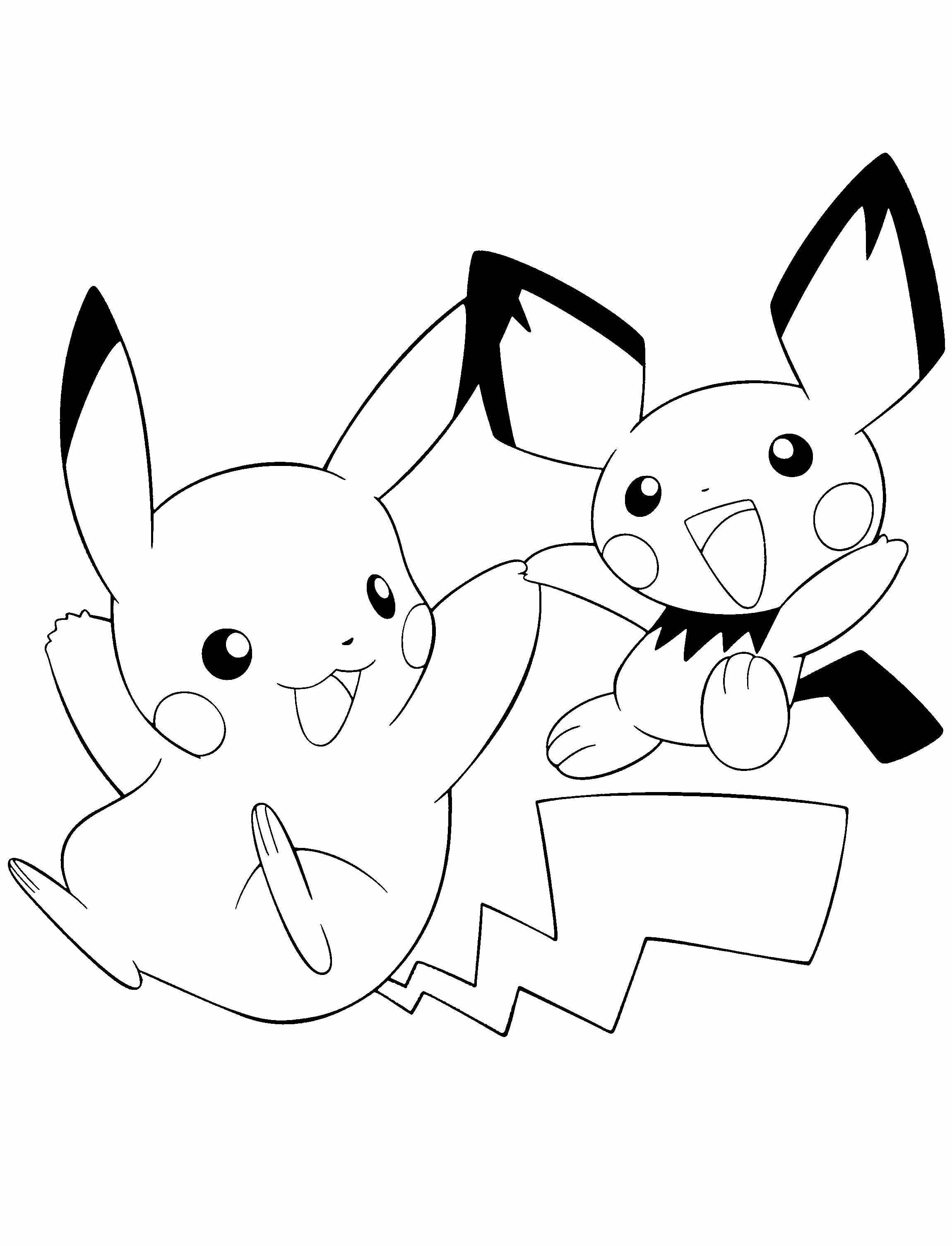 Pokemon Pikachu And Friends Coloring Page Com Imagens Pokemon