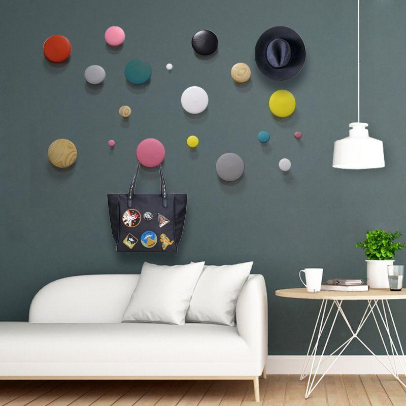 Tanie Nordic Styl Dekoracji ściany Wiszące Salon Drewna