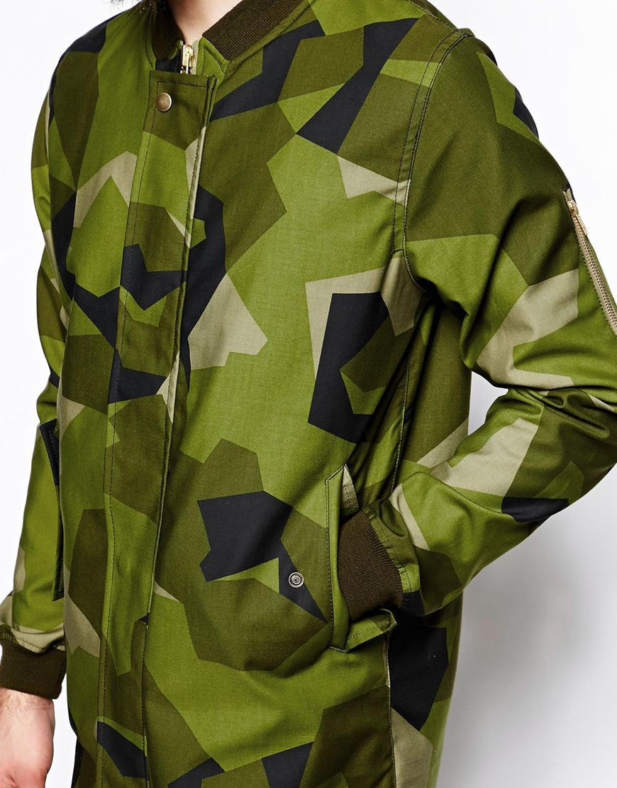 923ef7f6358dd Brixtol | Brixtol Bomber Parka in Swedish Camo at ASOS | pattern ...