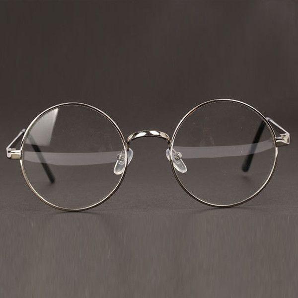 Women Or Men Retro Round Metal Frame Clear Lens Glasses Nerd