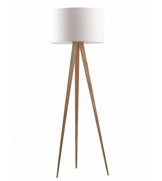 Zuiver Tripod Floor Lamp From Wood Natural White 151x50cm Lefliving Com Haus Floor Lamp Tripod Lamp Wood