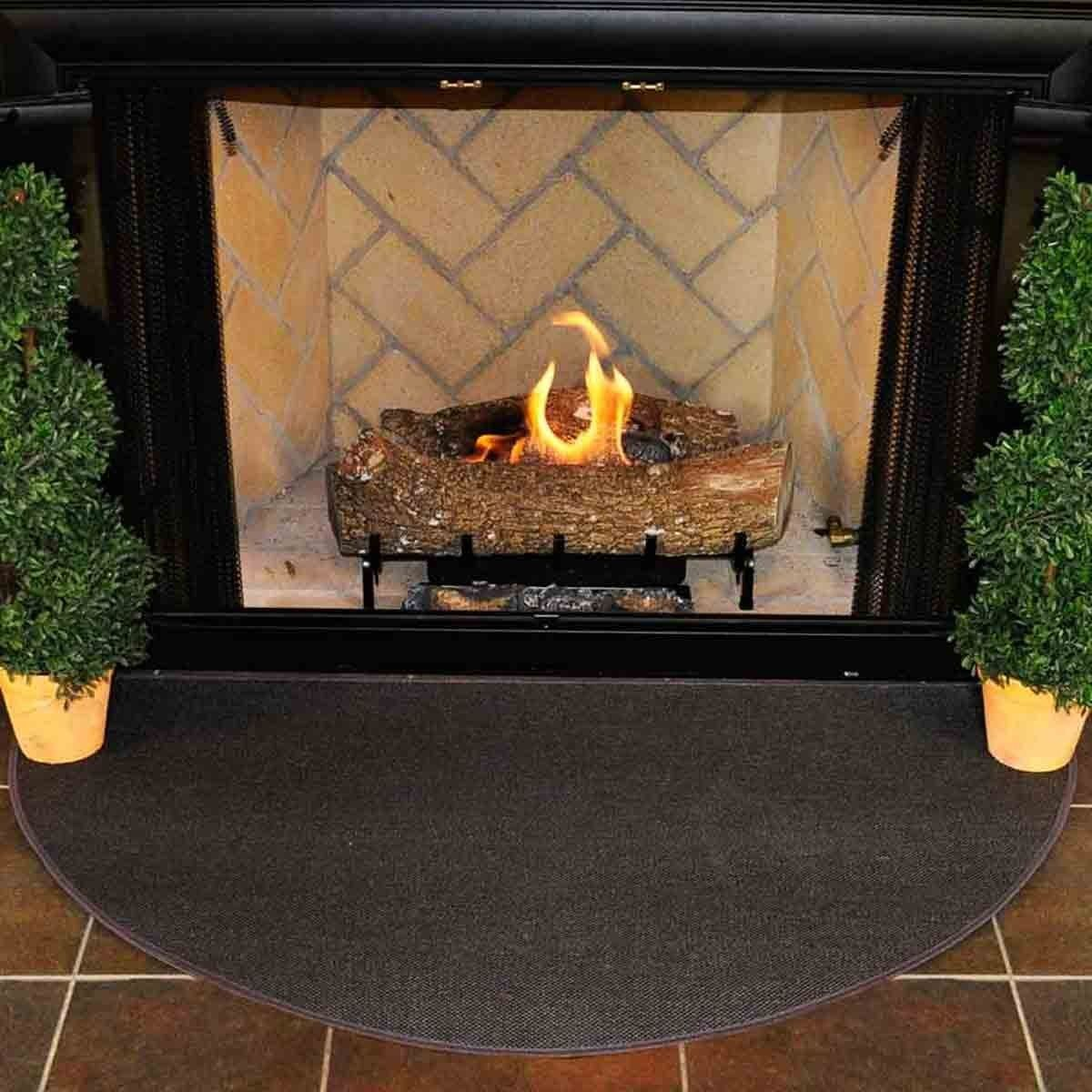 4 Half Round Charcoal Guardian Fireplace Rug 4 Half Round Charcoal Guardian Rug Browse Our Array Of Fire Resistant Fire Fireplace Rugs Fireplace Hearth Rug