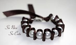 Resultado de imagen para pulseras con perlas