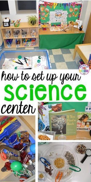 How to set up the Science Center in your Early Childhood Classroom is part of Science center preschool, Preschool centers, Classroom centers, Preschool science, Early childhood classrooms, Science classroom - The science center in my classroom is always a busy place  Students can observe, experiment, create, construct, classify, compare and question  Students are natural born scientists  They are curious and eager to explore the world and everything in it! As teachers, it is our job to nurture their scientific spirit and help students form questions,   Read More
