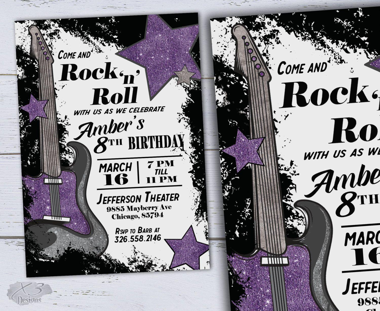 Printable sweet 16 birthday invitations diy guitar birthday printable sweet 16 birthday invitations diy 60th birthday invitation music party kids filmwisefo Images