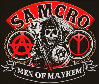 T shirt mec sons of anarchy samcro reaper rock a gogo