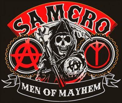 T shirt mec sons of anarchy samcro reaper rock a gogo