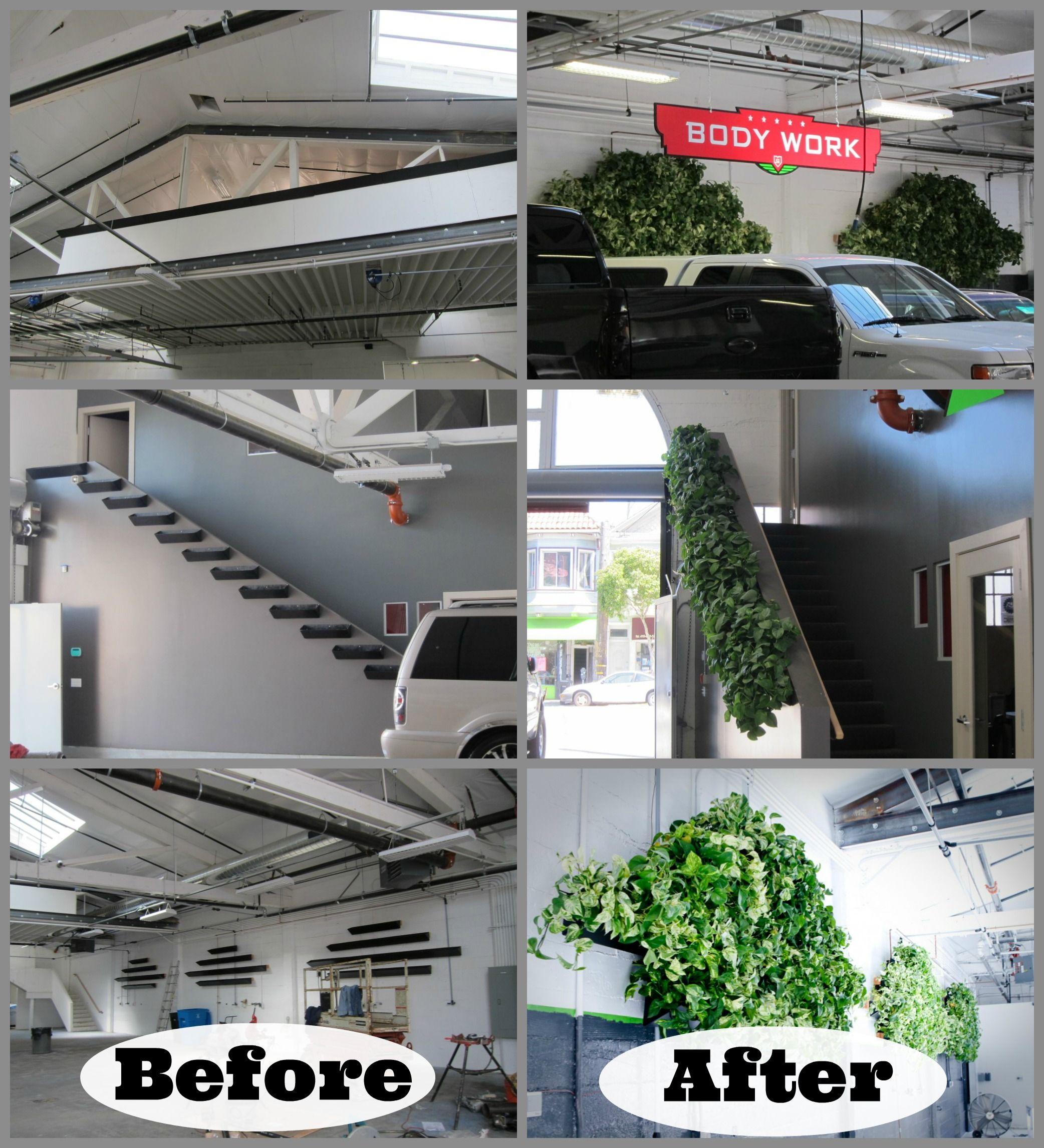 Exceptional Add Plants To A Space To Improve Air Quality And Appearance! Before And  After Pictures. Contemporary OfficeRepair ShopShop IdeasDesign ...