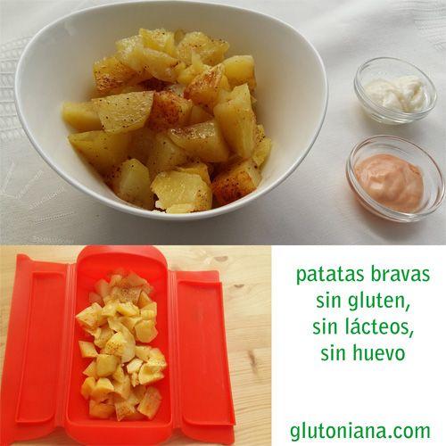 Patatas bravas en microondas y vaporera lku sin gluten foods patatas bravas en microondas y vaporera lku forumfinder Image collections