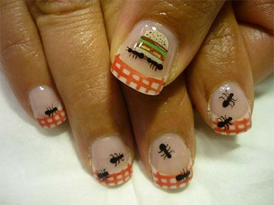 Cute Zoo Farm Animals Nail Art Designs Ideas 2013 2014 Nail