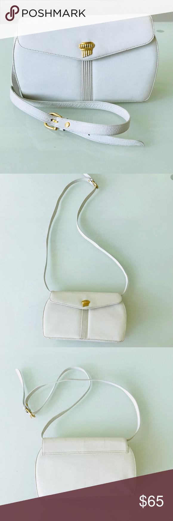 Oscar De La Renta White Shoulder Bag White Shoulder Bags Bags Shoulder Bag