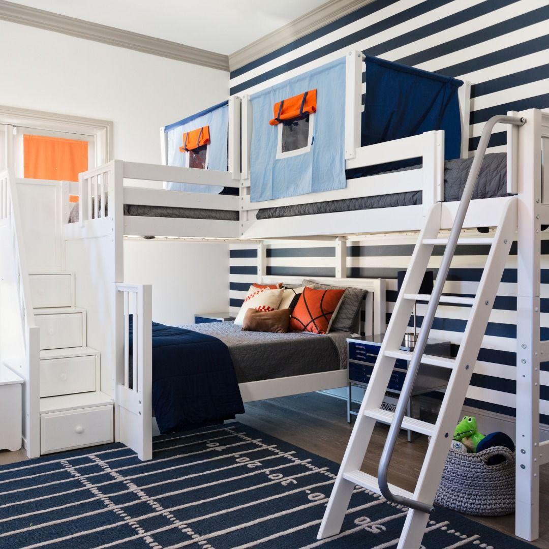 Unique Solutions Corner loft beds, Corner bunk beds