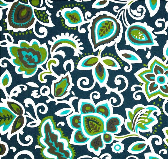Outdoor Or Indoor Navy And White Fabric By The Yard Designer