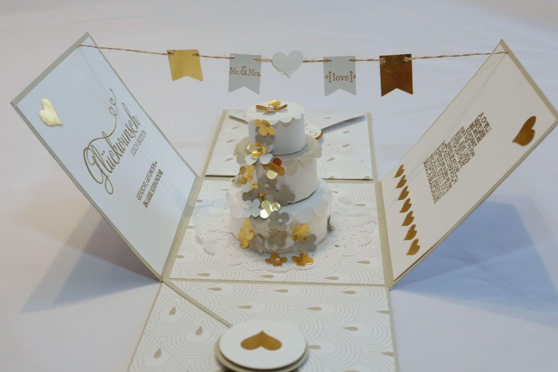 hochzeitsexplosionsbox hochzeit kommunion konfirmation stampin up pinterest explosion box. Black Bedroom Furniture Sets. Home Design Ideas