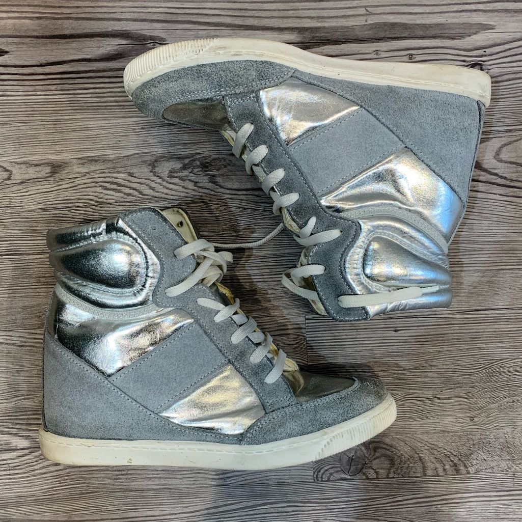 ASOS Shoes | Asos Wedge Sneakers | Color: GraySilver | Size