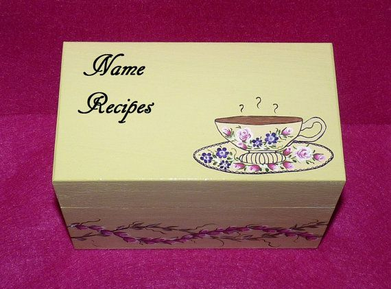 Decorative Recipe Boxes Extraordinary Wedding Recipe Box Victorian Coffee Recipe Box Decorative Wood Decorating Inspiration