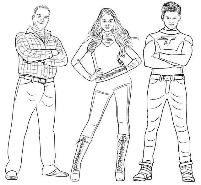 Dibujos De Kid Danger Y Capitán Man Para Colorear - KIDRIZI