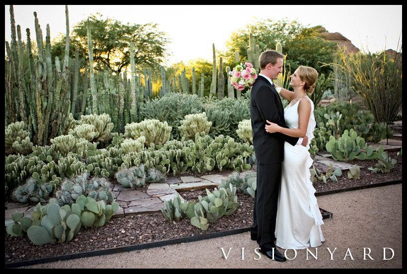 Desert Botanical Garden Wedding Photo