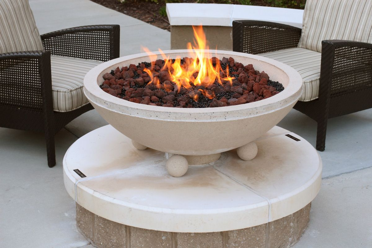 Commercial fire pit Hyatt Hotel. Gas fire pits outdoor