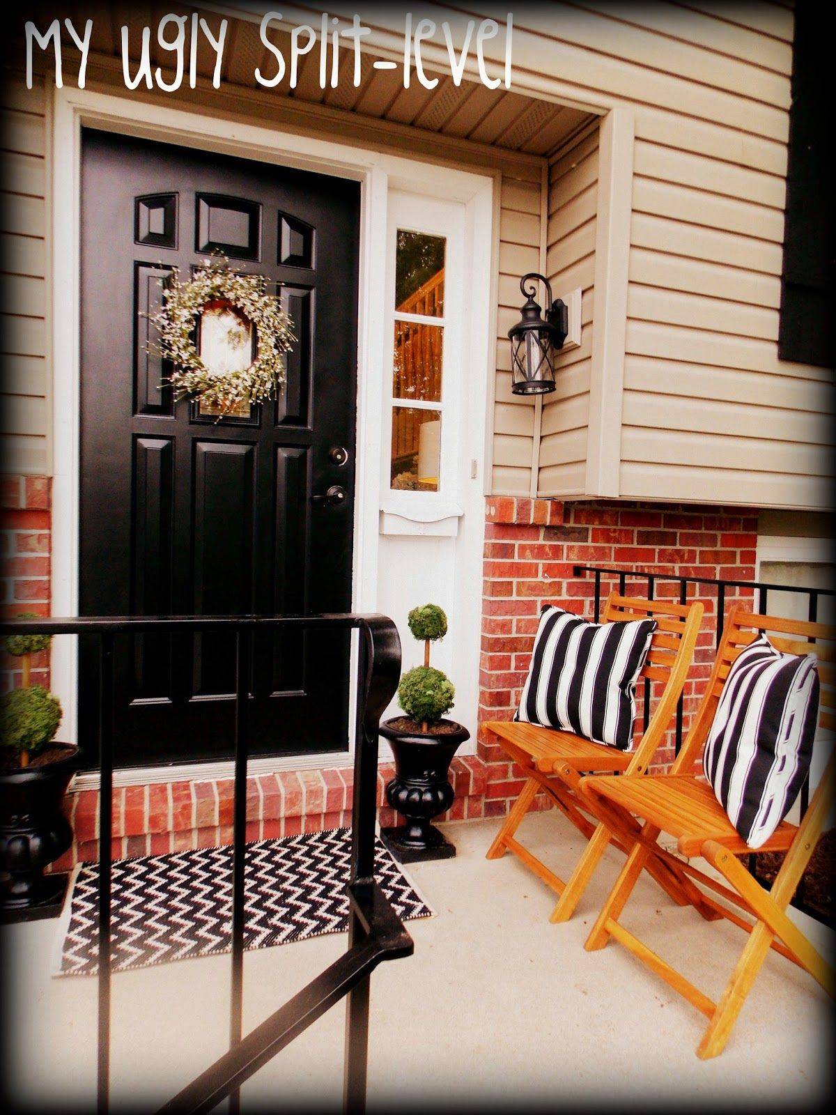 Split Foyer Front Porch : Split level porch love my ugly bi