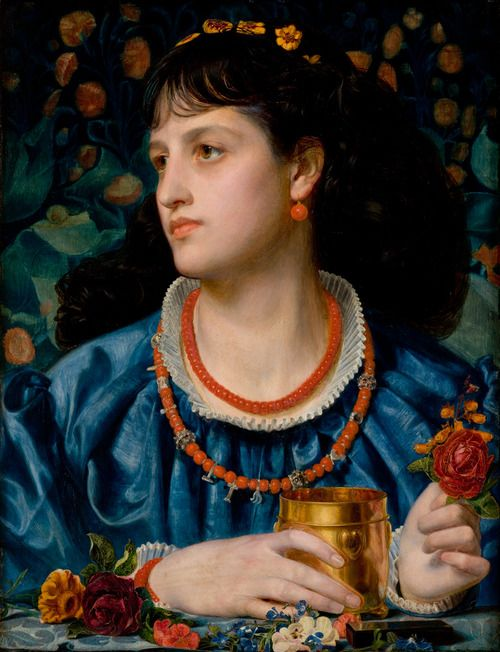 Jeyne Westerling (Frederick Sandys, Isolda With the Love Potion, 1870)
