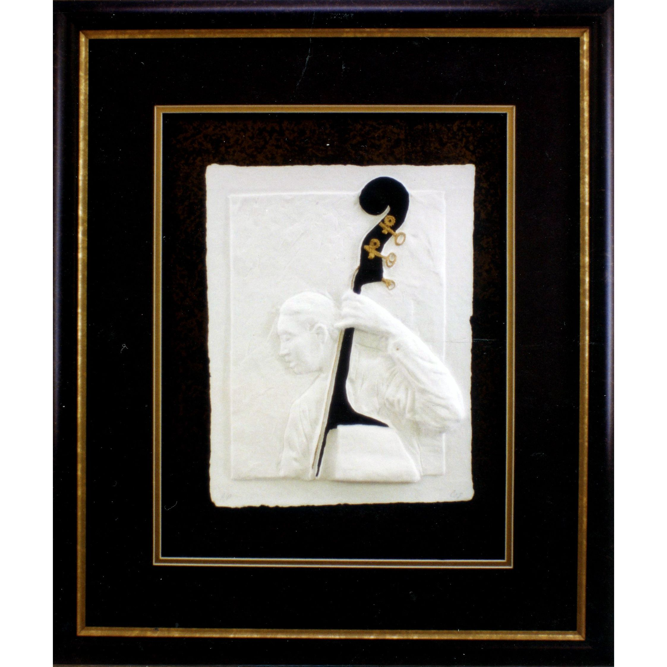 Cast Paper \'Jazz Bass\' 24x28 Indoor/ Outdoor Framed Art | Products ...