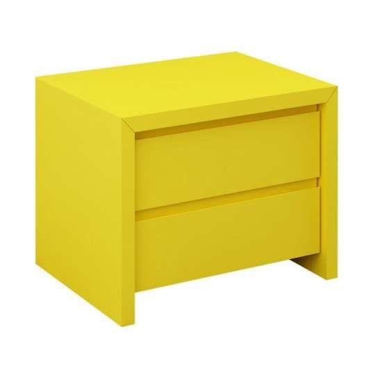 Criado mudo sara 2 gavetas amarelo decora o muebles - Muebles casal valencia ...