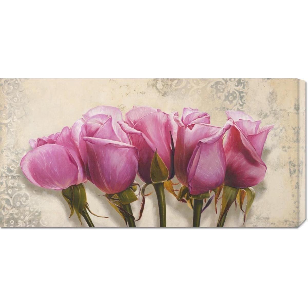 Global Gallery Elena Dolci 'Royal Roses' Stretched Art