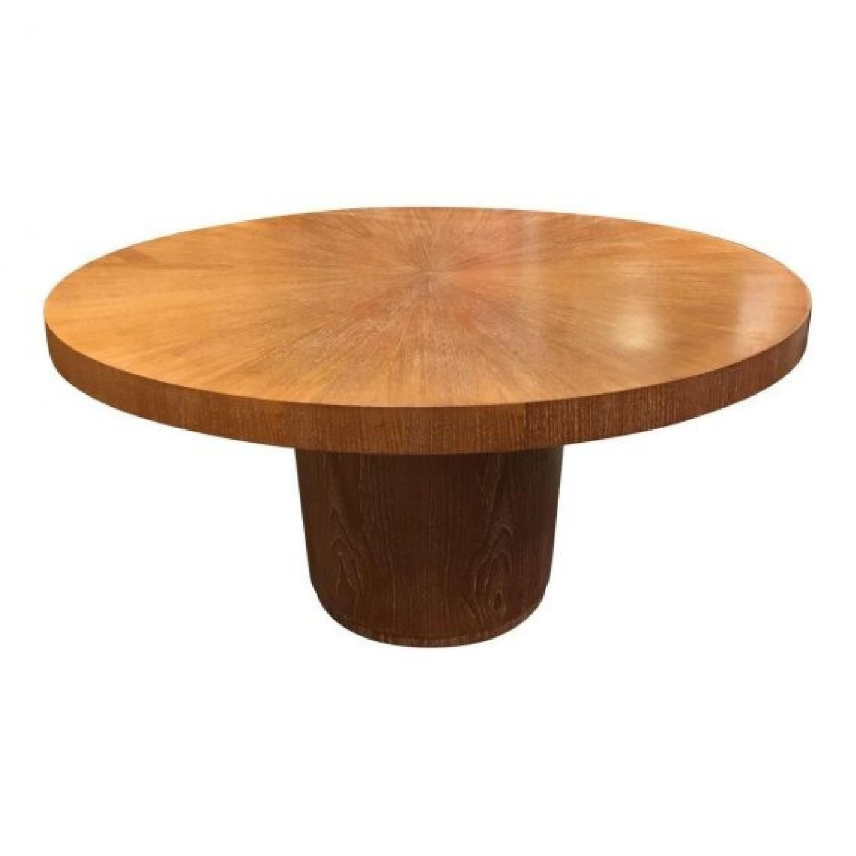 Crate Barrel Nova Round Dining Table Aptdeco Round Dining Table Table Dining Table