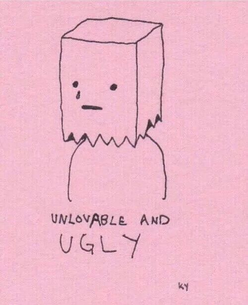 ugly, pink, and sad | tattoo | Pinterest | Drawings, Drawing ideas ...