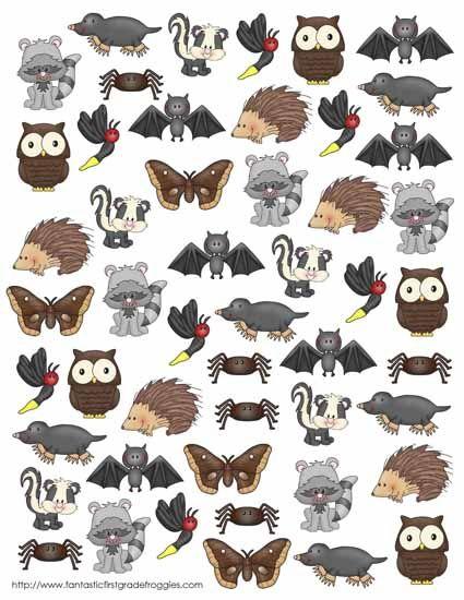 nocturnal animals image | Preschool/Kindergarten Activities ...