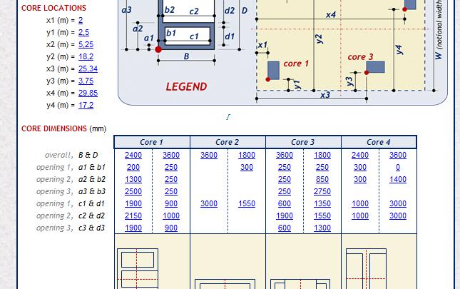 Core Wall Design Spreadsheet Wall Design Spreadsheet Design