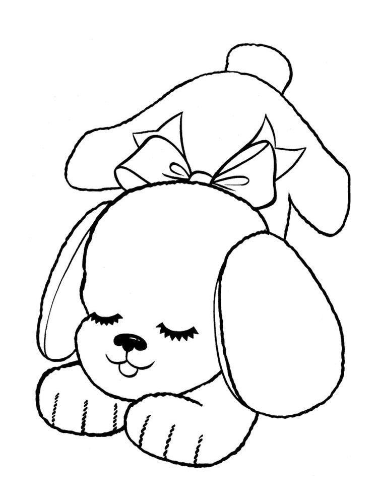Puppy 002 | Puppy coloring pages, Dog coloring page ...
