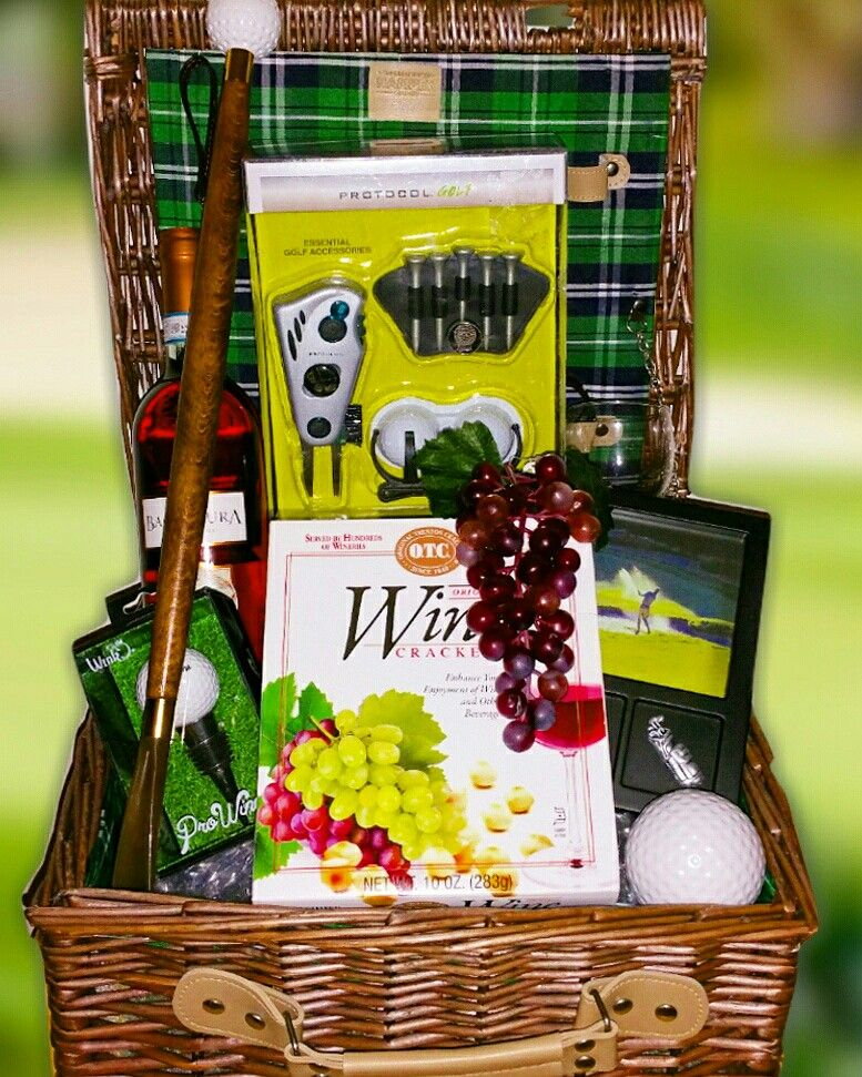 Golf design gift made by zotorius creations gift baskets