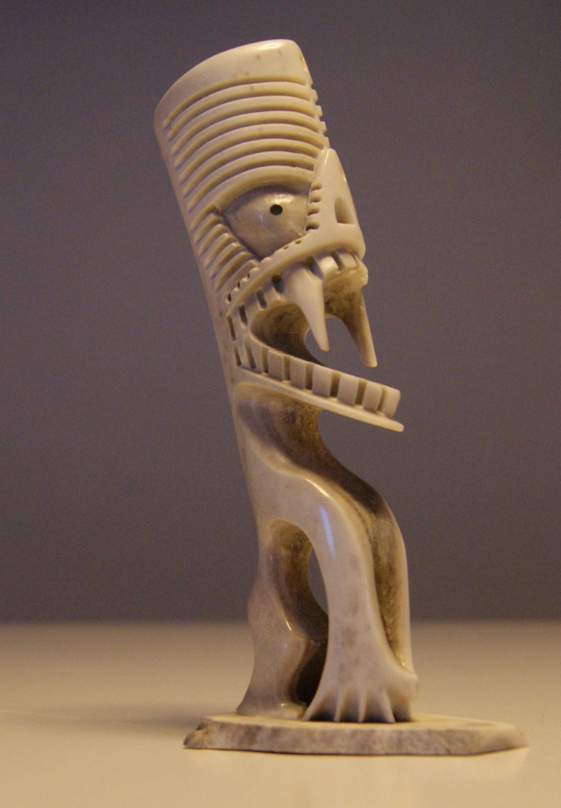 Inuit art greenland this looks similar to maori carving