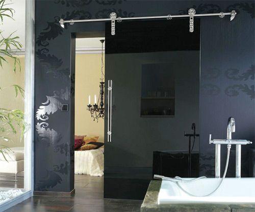 33 idées de portes coulissantes déco   belle, appliqués et loft - Porte Coulissante Interieur Pour Salle De Bain