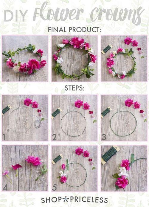 como hacer una corona de flores diy diario de una novia - Como Hacer Diademas De Flores