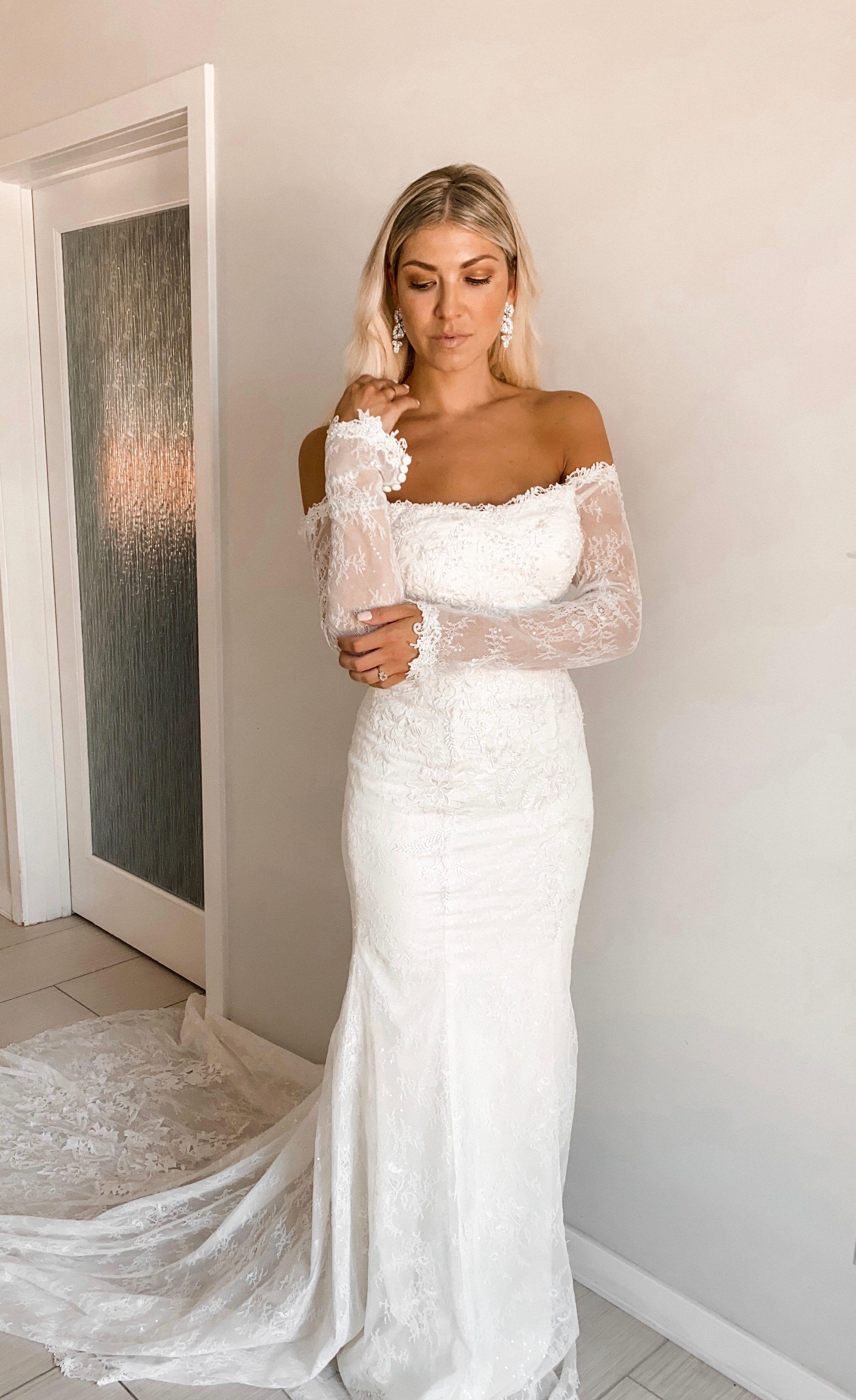 Long Sleeve Off Shoulder Sequin Lace Wedding Dress David S Bridal Davids Bridal Wedding Dresses Sequin Lace Wedding Dress Long Sleeve Wedding Dress Lace [ 3592 x 2198 Pixel ]