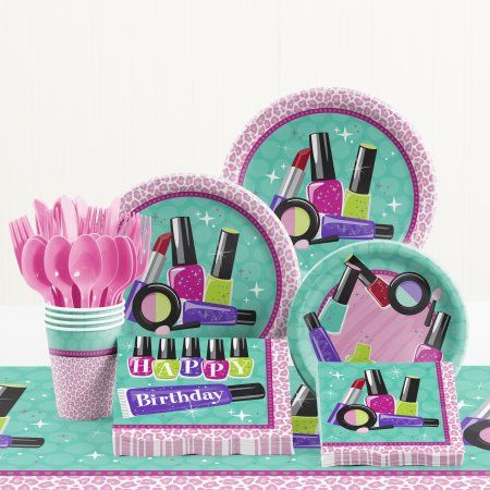Sparkle Spa Birthday Party Supplies Kit - Walmart.com -   15 makeup Party kids ideas