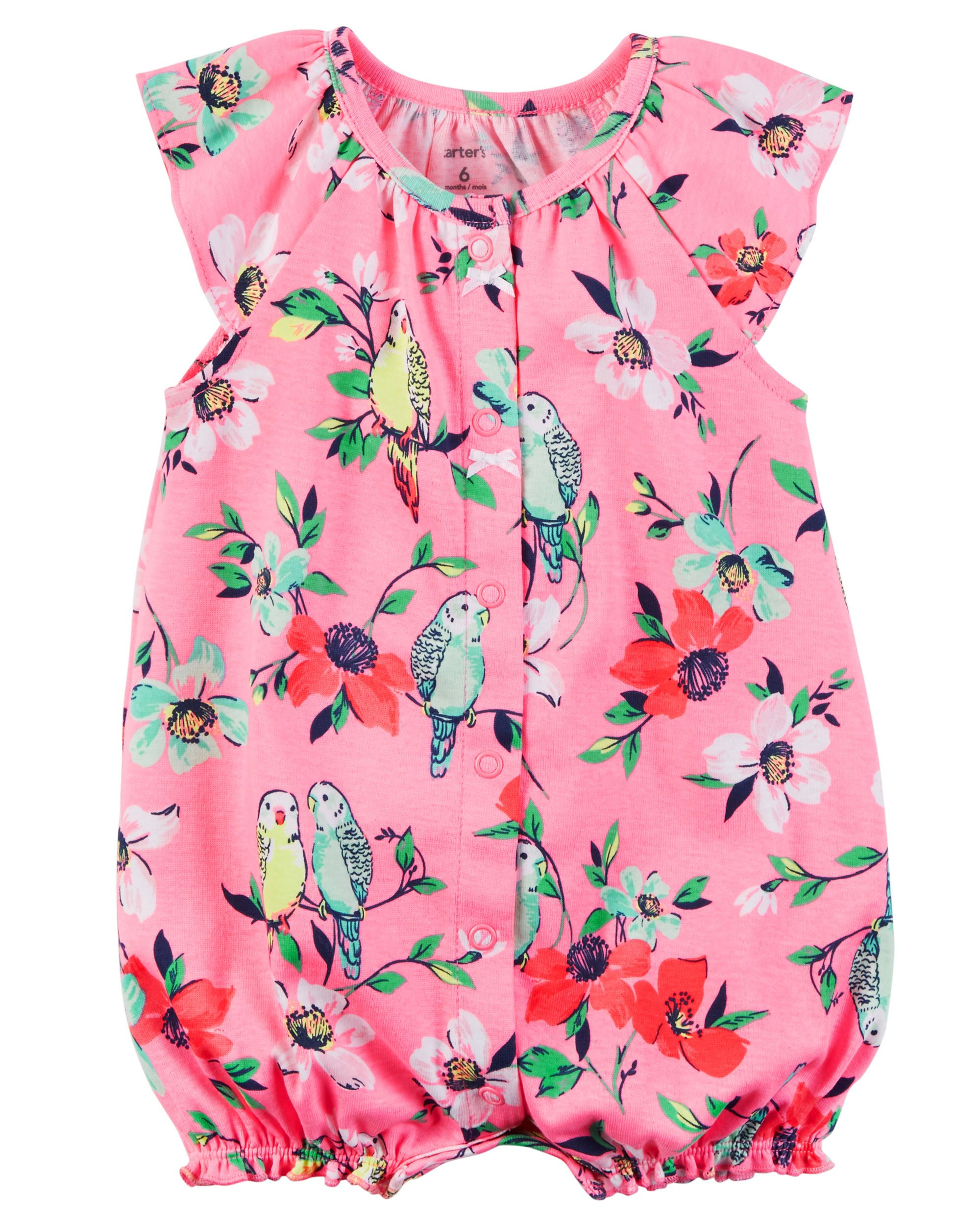 6a1176d4b1ac Baby Girl Snap-Up Cotton Romper from Carters.com. Shop clothing    accessories from a trusted name in kids