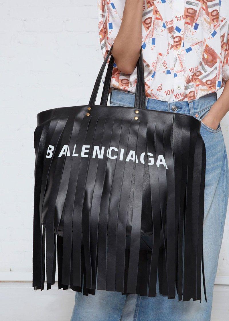 Balenciaga Laundry Fringe Tote Bag