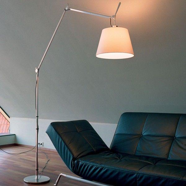 Popular Lampe de Sol Tolomeo Mega Parchemin satin ou noir Artemide de Michele De