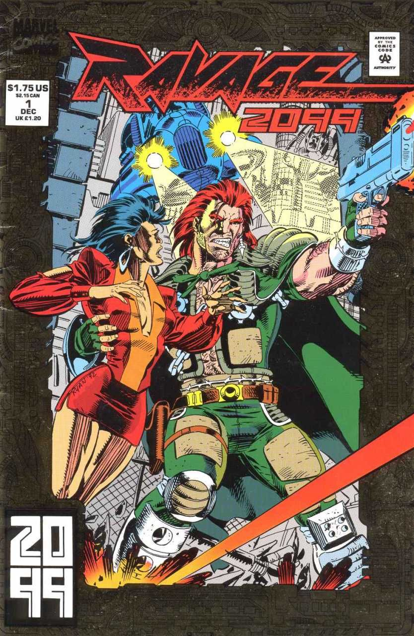 Today's Comic Cover Number 2 - Ravage 2099 #1 ( 1992 )