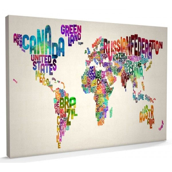 Art map of the world words framed small island watercolor and art map of the world words framed gumiabroncs Image collections