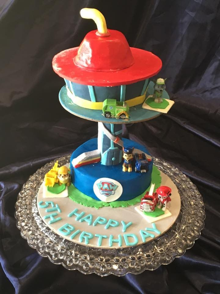 How To Make Paw Patrol Lookout Cake Paw Patrol Party